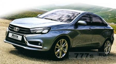 А вот и фото будущей машины АВТОВАЗА! Выглядит красиво..