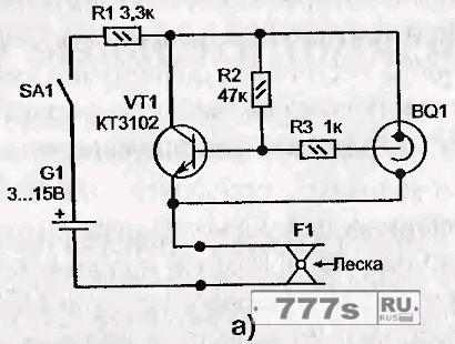 Электронный сигнализатор поклевки своими руками схема