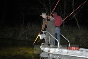 Условия рыбалки с острогой.