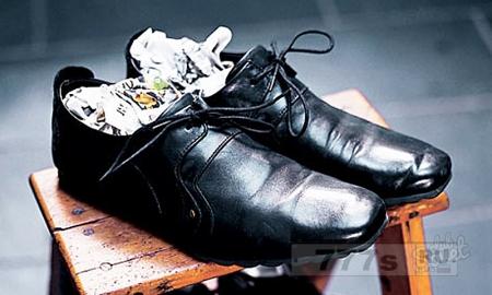 Сушим обувь.