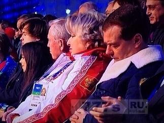 Дмитрий Медведев уснул..