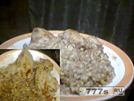 Кулинария: острая каша с крылышками