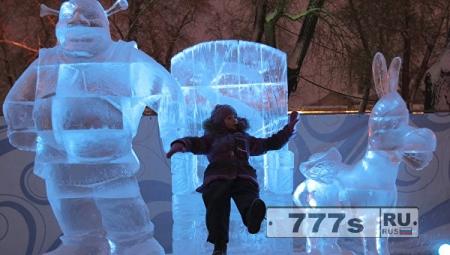 Конкурс ледовой скульптуры в Хабаровске