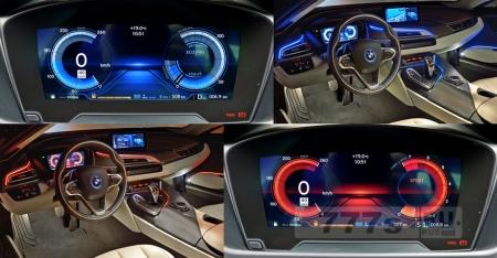BMW i8 (спецвыпуск) покрашена спецкраской и прострочена двойной строчкой