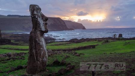 На острове Пасхи полинезийцы не воевали