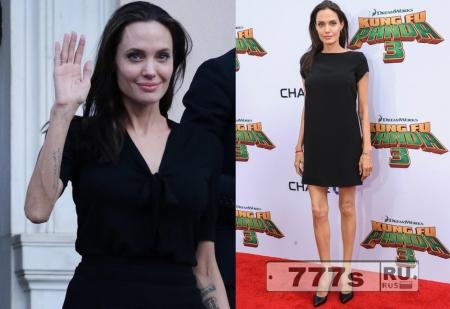 Анджелина Джоли очень сильно похудела до 35 килограммов!