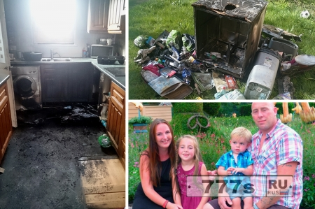 Взорвалась посудомоечная машина, кухня уничтожена