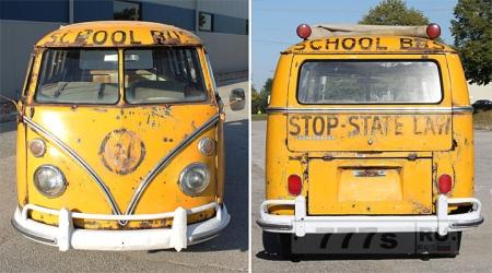 Переделанный школьный автобус сантехника Пола отправляется в путь