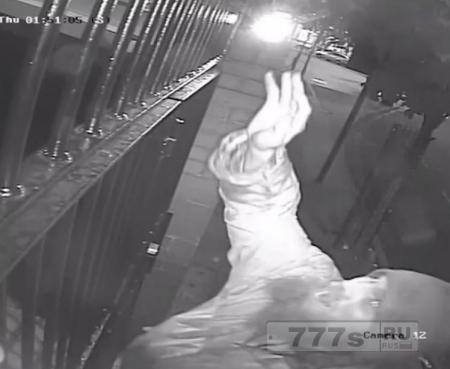 Видеокамера сняла, как мужчина бросает гнилую свинину в мечеть