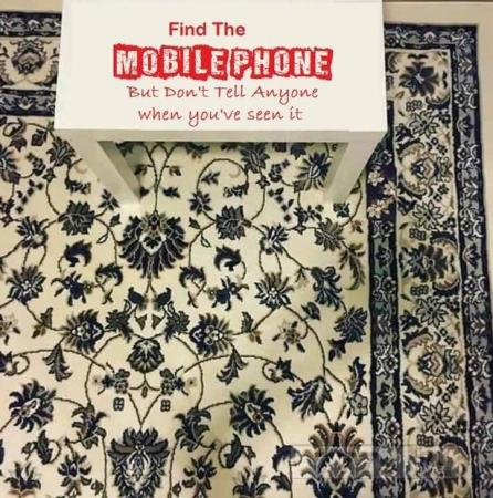 Люди не могут найти мобильный телефон на этом ковре, и это их сводит с ума