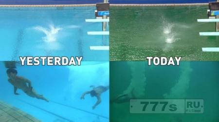 Появились спекуляции, что кто-то сделал пи пи в олимпийский бассейн