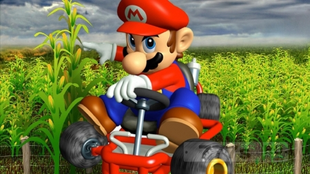 «Super Mario Bros.» кукурузный лабиринт создан на 8 акрах на ферме в штате Нью-Йорк.
