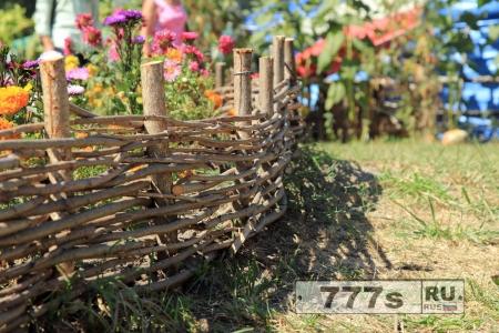 Идеи: плетень на садовом участке