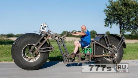 Велосипед бегемот: немецкий взгляд на тяжелый велосипед для мирового рекорда