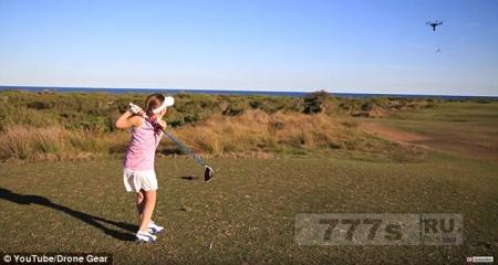 Восьмилетняя девочка сбила летающего дрона, играя в гольф