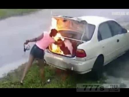 Женщина «подожгла не ту машину, пытаясь отомстить бывшему бойфренду»