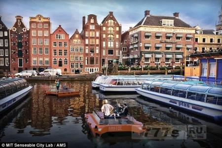 Беспилотные суда будут перемещаться по водным путям Амстердама к 2017 году