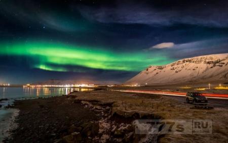 Рейкьявик отключил уличные фонари, чтобы было видно потрясающее северное сияние