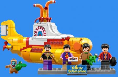 Поклонники попросили LEGO, чтобы они выпустили набор Желтая подводная лодка Битлз