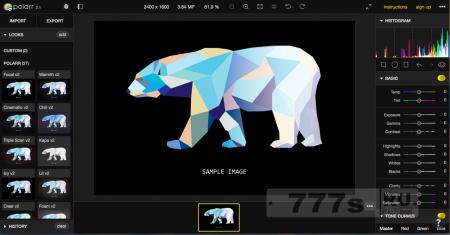 Обзор: Polarr - простой и кроссплатформенный редактор фото (включая RAW)