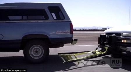 Изобретение в стиле Джеймса Бонда, безопасно останавливает едущий автомобиль