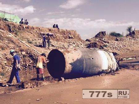 Большой кусок «китайского» космического мусора падает на Землю с неба над Бирмой
