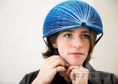 Новый велосипедный шлем можно сложить как книгу