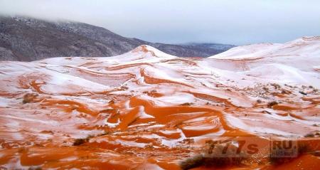 Снег выпал в пустыне Сахара в первый раз за более чем 37 лет
