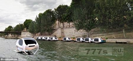 Такси на подводных крыльях скоро будут перевозить пассажиров в Париже и Сан-Франциско.
