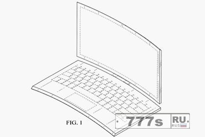 Компания Intel запатентовала изогнутый ноутбук-трансформер.