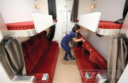 Новый хостел в Токио, это копия старого японского купе в поезде.