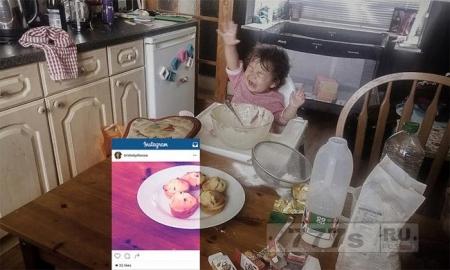 пользователи Instagram приоткрыли завесу тайны над обстановкой во время съемки на кухне.