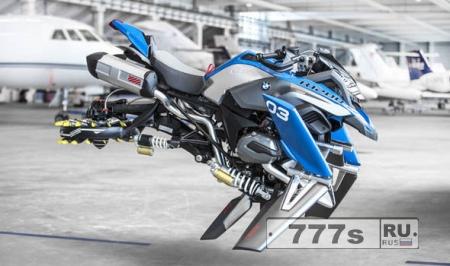 Компания BMW рассказала о новом мотоцикле, который может быть будет летать.