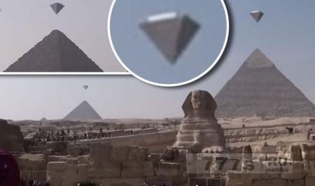НЛО над пирамидами, на кадрах странные объекты в Гизе.