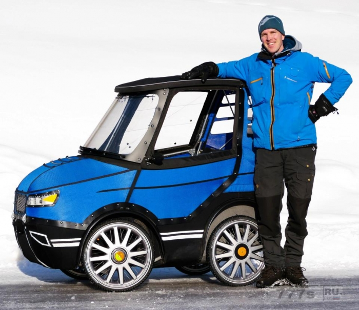 Возможно причудливый PodRide е-цикл, который выглядит как игрушечный автомобиль может быть появится на улицах Великобритании.
