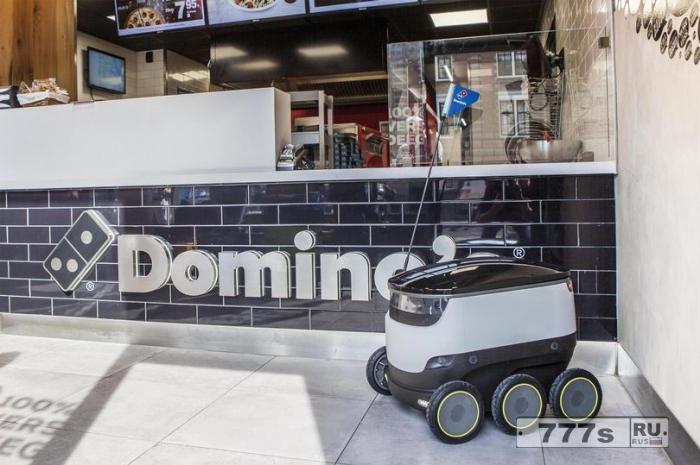 Пицца «Домино» запустила робота для доставки пиццы в Европе.