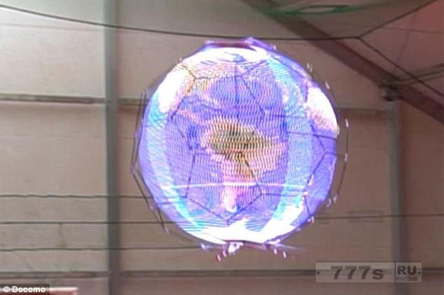 Невероятный сферический экран, которые вскоре может показывать рекламу в небе.