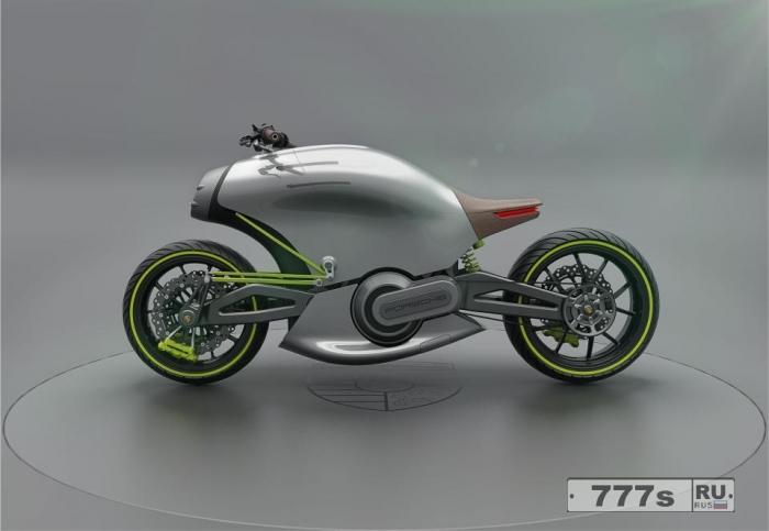 Дизайнер создает футуристический мотоцикл в честь знаменитого суперкара Порше.