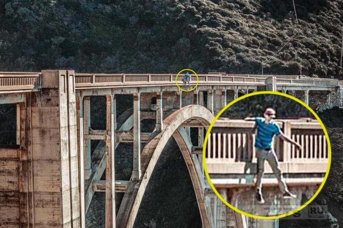 Подросток висит на 78-метровом мосту, чтобы сделать идеальный селфи, а полиция решила, что он собрался прыгать.