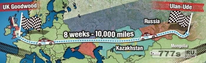 Пара примет участие в 10 000-мильном монгольском ралли на электрическом Nissan Leaf.
