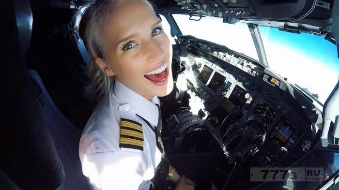 Знакомьтесь сногсшибательная блондинка Инстаграма – знаменитая летчица.