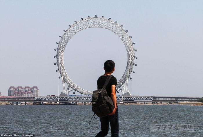 Удивительное новое колесо обозрения без спиц открывается в Китае (с Wi-Fi для всех неизбежных селфи).