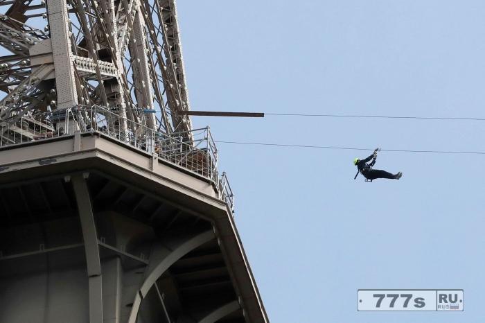 Теперь вы можете натянуть трос на Эйфелевую башню.