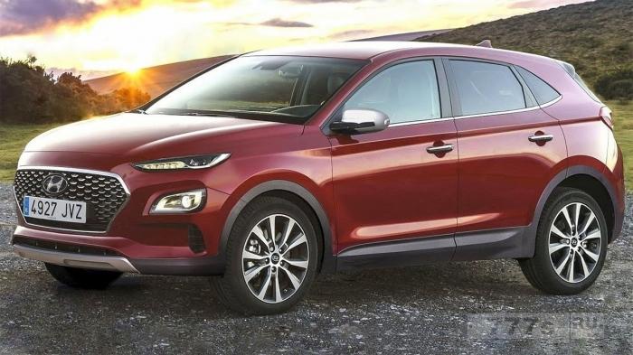 Hyundai Kona 2017 - Внешний вид автомобиля раскрыт в новых концептуальных изображениях.