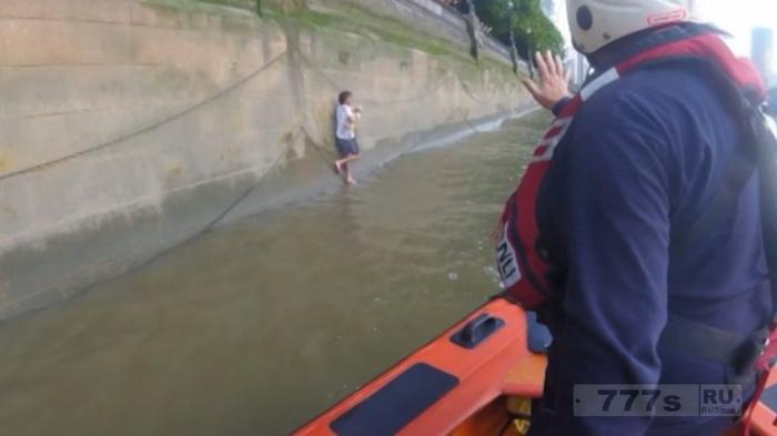 Мужчину, который прыгнул в Темзу, чтобы спасти чужую собаку, спасли вместе с собакой.