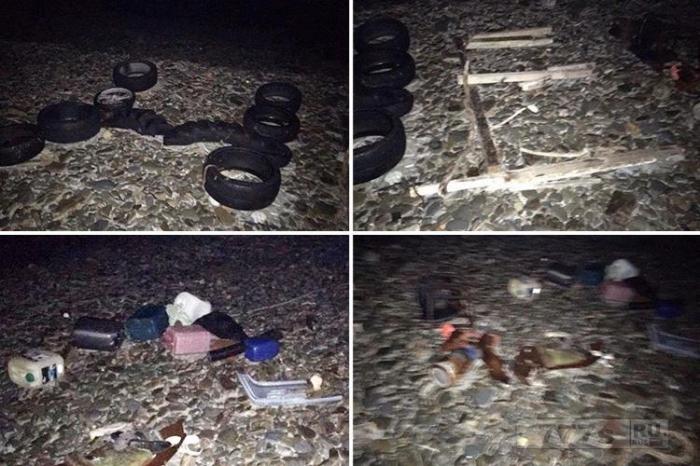 Слово «HELP», выложенное из шин, коряг и пластика, появилось на Острове Мэн, береговая охрана начала поиски.