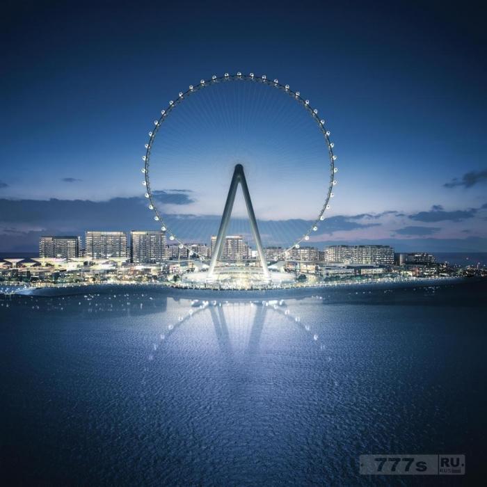 Удивительные фото колеса обозрения в Дубай, высота которого будет 210 метров.