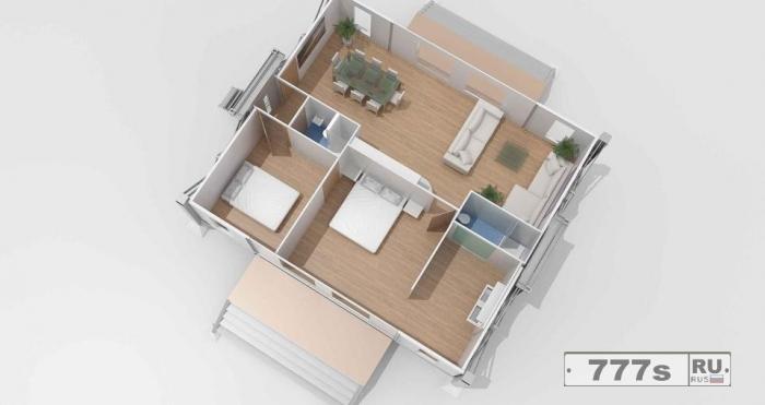 Невероятный раскладывающийся дом может быть разложен из плоского пакета в полноценный дом всего за 10 минут.