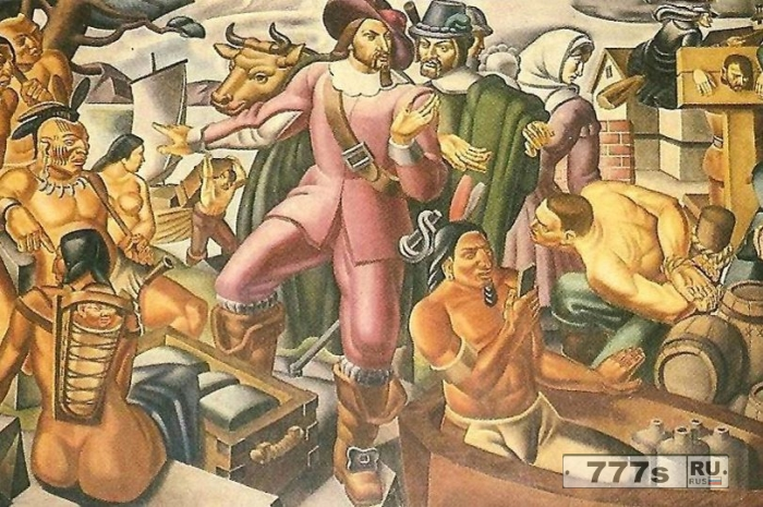 Свидетельство о путешествии во времени? Историческая роспись с 1937 года, по-видимому, показывает современный гаджет - вы видите это?