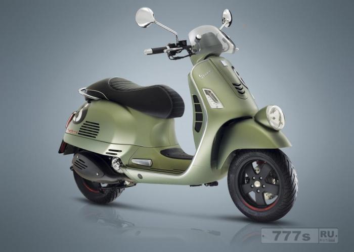 Новый высокотехнологичный Веспа Sei Giorni - дань уважения любимому мотороллеру 1950-х годов.